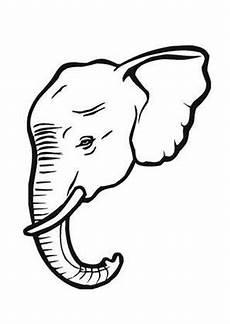 Ausmalbilder Elefant Gratis Ausmalbild Elefant Mit Stosszahn Kostenlos Ausdrucken