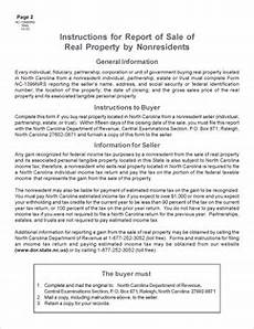 form nc 1099 report of sale of real property by nonresidents web fill in
