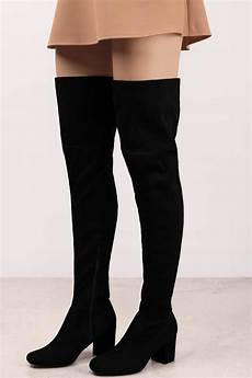 black boots gray suede boots suede black the knee