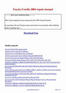 how to download repair manuals 2004 toyota camry auto manual toyota corolla 2004 repair manual by hong lee issuu