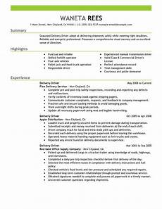 resume sumary delivery driver delivery driver resume sle driver resumes livecareer