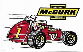 McGurk Racing Decal Sticker 6 1/2 Inches Long Size New