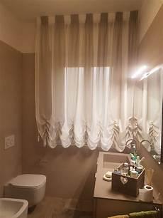 bastoni per tende vasca da bagno tenda a finto pacchetto con tessuto a colori alternati per