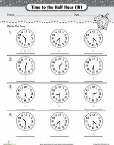 the half hour telling time with clockwork cat first