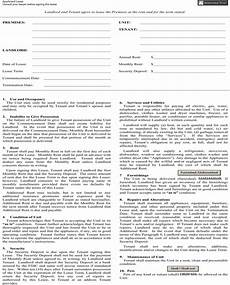 Apartment Lease Nyc Pdf by New York Apartment Lease Agreement Form For Free