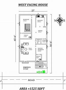 vastu house plans west facing 27 x56 6 quot marvelous 2bhk west facing house plan as per