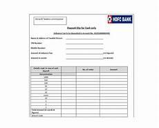 deposit slip template templates free printable