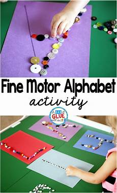 motor skills worksheets for toddlers 20639 motor skills alphabet activity a dab of glue will do