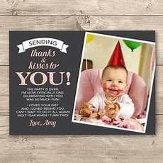thank you card template baby birthday 1st birthday thank you card wording thank you card