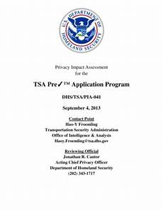 fillable online dhs tsa precheck application program privacy impact assessment dhs fax email