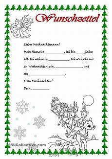 wunschzettel brief vom weihnachtsmann vorschule