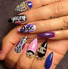 10 purple stiletto nail designs you must have pretty designs