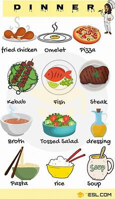 dinner food list useful list of dinner foods with pictures 7 e s l