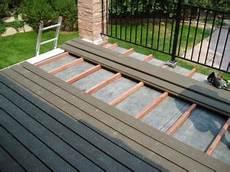 building a deck a flat roof a builder s blog
