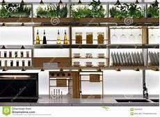 scaffali cucina scaffali della cucina immagine stock immagine di forno