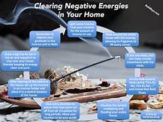 infographic clearing negative energies in your home