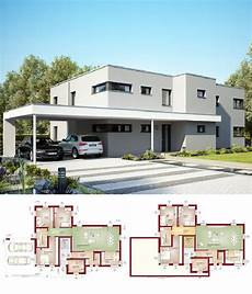 Modernes Zweifamilienhaus Mit Einliegerwohnung Flachdach