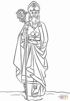 st nicholas coloring page free printable coloring pages