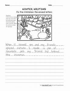 free winter handwriting worksheets 20021 the crafty ot winter writing fix the mistakes