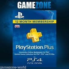 playstation plus psn 365 days uk card ps store 12 month