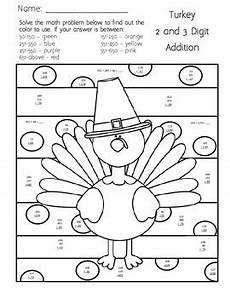 addition colouring worksheets year 1 9863 thanksgiving 2 and 3 digit addition coloring worksheet by teachers with coffee