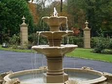 Wasserspiel Stein Garten - three tier cast water feature garden ebay