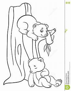 baby woodland animals coloring pages 17514 coloring pages animals two baby bears stock vector illustration of image