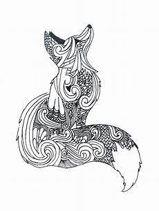 zentangle fox mandala tiere mandala zum ausdrucken