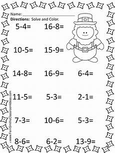 s day worksheets grade 2 20361 st s day mixed subtraction task cards and printables 1st grade math worksheets math