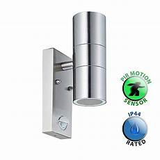 stainless steel pir outdoor up down wall light for gu10