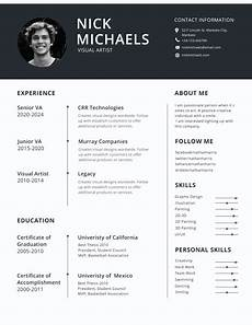 corporate resume format template