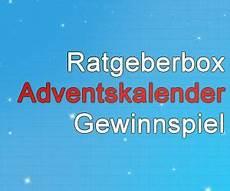 Ratgeberbox Adventskalender Gewinnspiel 2016