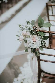 ivory and blush aisle flowers ceremony decor franciscan