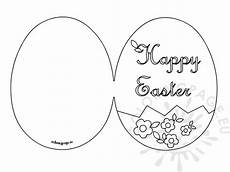 happy easter card printable coloring page