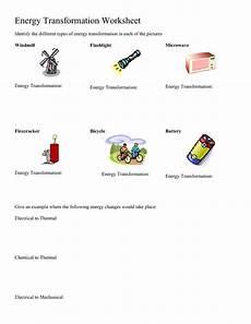 types of energy worksheet energy transformation worksheet middle school worksheets