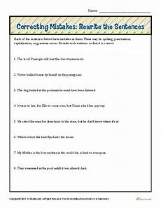 correcting mistakes rewrite the sentences proofing and