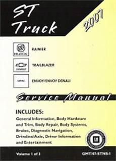 small engine repair manuals free download 2007 chevrolet aveo user handbook 2007 chevrolet trailblazer gmc envoy buick rainier suv service manual 3 vol set