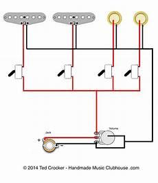 2 Single Coils 2 Piezos 1 Vol 4 Mini On Switches
