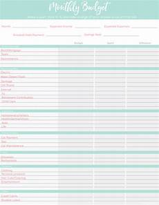 printable budget worksheets 6 free templates for beginners lw vogue