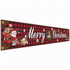 large merry christmas banner outdoor grid christmas banner decorations outdoor