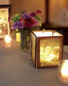 how to make photo centerpieces with candles my wedding reception ideas blog