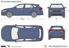 Fiat Tipo Station Wagon Vector Drawing