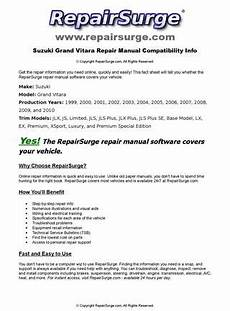 service manuals schematics 2003 suzuki vitara regenerative braking suzuki grand vitara online repair manual for 1999 2000 2001 2002 2003 2004 2005 2006