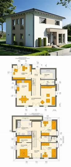 Stadtvilla Haus Modern Mit Galerie Walmdach Architektur