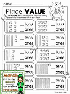 place value worksheet with base ten blocks 5671 march printables grade literacy and math base ten blocks math and kindergarten math