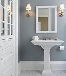 solitude by benjamin moore looks amazing in this bathroom