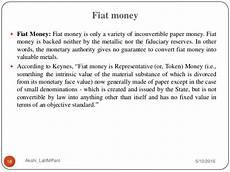 Fiat Money Definition Economics by Money