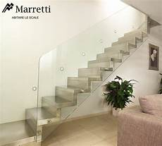 ringhiera scala vetro glass banister for interior staircases by marretti glass