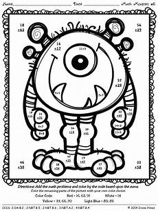 two digit subtraction with regrouping coloring worksheets 10622 math monsters addition subtraction with regrouping color by the code puzzles math pages