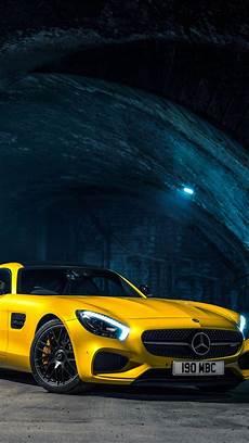 Mercedes Car Wallpaper Iphone 6s Plus 2015 mercedes amg gts yellow car iphone wallpaper
